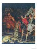 Mucius Scaevola Before Porsenna Giclee Print by Peter Paul Rubens
