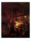 A Blacksmith&#39;s Shop, 1771 Giclee Print by Joseph Wright of Derby