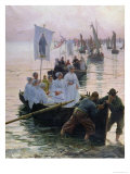 The Arrival of the Procession of St. Anne from Fouesnant to Concarneau, 1887 Giclee Print by Alfred Guillou