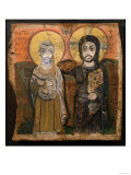 Icon Depicting Abbott Mena with Christ, from Baouit, 6th-7th Century Giclee Print