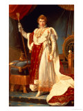 Napoleon in Coronation Robes, circa 1804 Reproduction procédé giclée par Francois Gerard