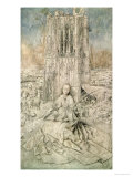 St. Barbara, 1437 (Grisaille) Giclee Print by  Jan van Eyck