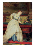 The Game of Billiards Giclee Print by Charles Edouard Boutibonne