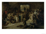 The Plague of Tournai in 1095, 1883 Giclee Print by Louis Gallait