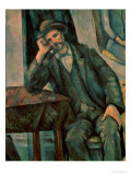 Man Smoking a Pipe, 1890-92 Premium Giclee Print by Paul Cézanne