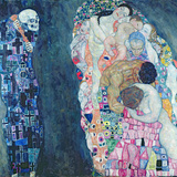 Death and Life, circa 1911 Gicledruk van Gustav Klimt