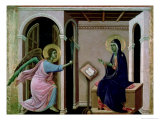 Angel Announcing the Death of Our Lord to Mary Giclee Print by  Duccio di Buoninsegna