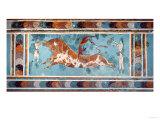 The Toreador Fresco, Knossos Palace, Crete, circa 1500 BC Giclée-tryk