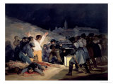 Execution of the Defenders of Madrid, 3rd May, 1808, 1814 Reproduction procédé giclée par Francisco de Goya