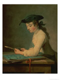 The Young Draughtsman, 1737 Giclee Print by Jean-Baptiste Simeon Chardin
