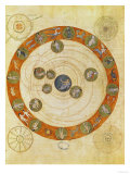 Phenomenes D'Aratus, Cosmological Diagram (Map of the Heavens) Giclee Print