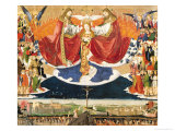 The Coronation of the Virgin, Completed 1453 Giclee Print by Enguerrand Quarton