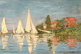 Regatta at Argenteuil, C.1872 Premium Giclee Print by Claude Monet