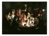 An Experiment on a Bird in the Air Pump, 1768 Giclée-tryk af Joseph Wright of Derby