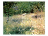 Spring at Chatou, circa 1872-5 Reproduction procédé giclée par Pierre-Auguste Renoir