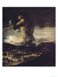 Le colosse, 1808 Reproduction procédé giclée par Francisco de Goya