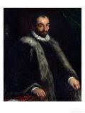 The Bearded Man, 1580 Giclée-tryk af Francesco Bassano