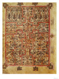 Carpet Page, Cross Filled with Bird Interlace, circa 730 Premium Giclee Print