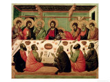 The Last Supper, from the Passion Altarpiece Giclée-tryk af  Duccio di Buoninsegna