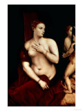 Venus in Front of the Mirror Giclee Print by Titian (Tiziano Vecelli)