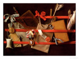A Trompe L'Oeil of Objects Attached to a Letter Rack, 1664 Giclee Print by Samuel van Hoogstraten