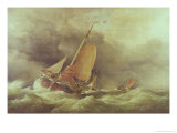 Dutch Pincks Running to Anchor off Yarmouth Giclee Print by Edward William Cooke