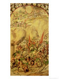 Conquest of Mexico: the Spaniards Retreating, 1st July 1520, 1698 Giclee Print by Miguel & Juan Gonzalez