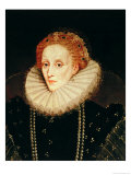 Portrait of Queen Elizabeth I (1533-1603) Reproduction proc&#233;d&#233; gicl&#233;e par Marcus Gheeraerts