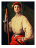 Portrait of a Halberdier (Possibly Francesco Guardi) circa 1528-30 Giclee Print by Jacopo da Carucci Pontormo