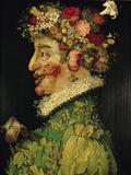 Spring, 1573 Giclée-tryk af Giuseppe Arcimboldo