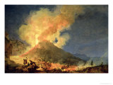 Vesuvius Erupting Gicl&#233;e-Druck von Pierre Jacques Volaire