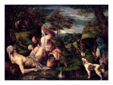 The Parable of the Good Samaritan, 1575 Giclée-tryk af Francesco Bassano