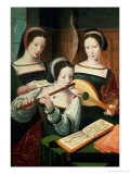 The Concert Giclee Print by Master of Female Half Lengths 