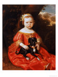 Portrait of a Girl with a Dog Lámina giclée por Jacob Gerritsz Cuyp