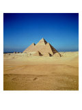 View of the Pyramids of Khufu, Khafre and Menkaure, Old Kingdom Giclee Print
