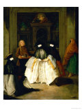 Masked Figures in a Venetian Coffee House Giclee Print by Pietro Longhi