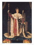 Portrait of Charles X (1757-1836) in Coronation Robes, 1829 Giclee Print by Jean-Auguste-Dominique Ingres