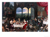 Taste, Hearing and Touch, 1618 Giclee Print by Jan Brueghel the Elder