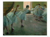 Dancers at Rehearsal, 1875-1877 Giclee Print by Edgar Degas