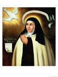 St. Theresa of Avila (1515-82) 1570 Giclee Print by Juan de la Miseria