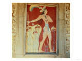 King-Priest or Prince with Lilies, from the Palace at Knossos, 16th Century Giclee Print