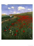 The Poppy Field Premium Giclee Print by Paul von Szinyei-Merse