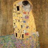 Gustav Klimt - The Kiss, 1907-08 Digitálně vytištěná reprodukce