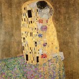 El beso, 1907-08 Lmina gicle por Gustav Klimt