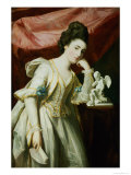 Portrait of a Lady with a Statuette of Cupid Giclee Print by Francis Cotes