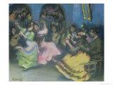 Spanish Gypsy Dancers, 1898 Giclee Print by Ricardo Canals y Llambi