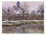 The Church at Vetheuil under Snow, 1878-79 Giclee Print by Claude Monet