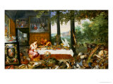 The Sense of Taste, 1618 Giclee Print by Jan Brueghel the Elder