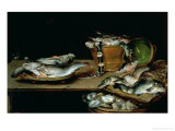 Still Life with Fish Giclee Print by Alexander van Adriaenssen