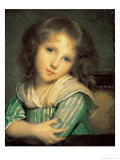 Girl at the Window Giclee Print by Jean-Baptiste Greuze